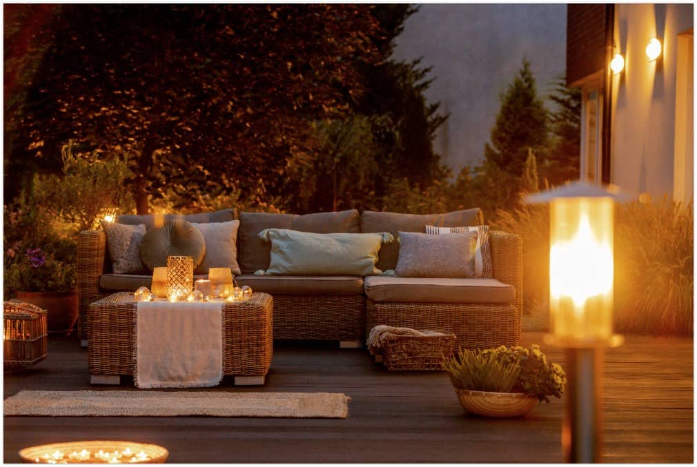 warm summer night in the garden
